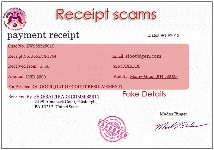 Receipt Scams | Cashier, Email, Walmart E-receipts Fraud