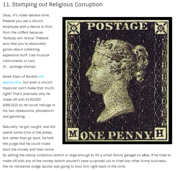 Stamping out Religious Corruption