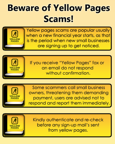 Beware of Yellow Pages scams