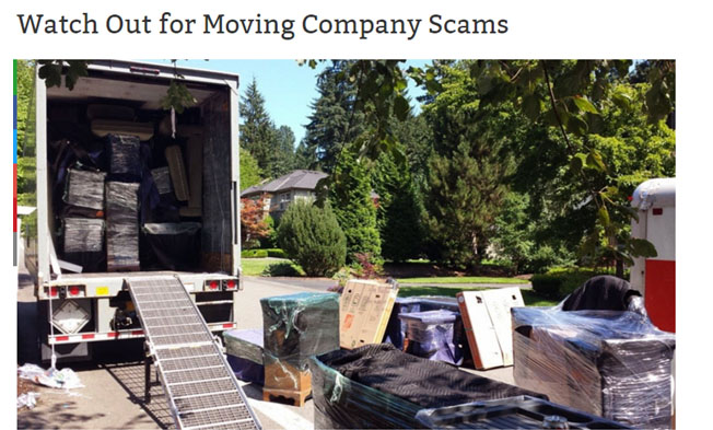 Moving scam
