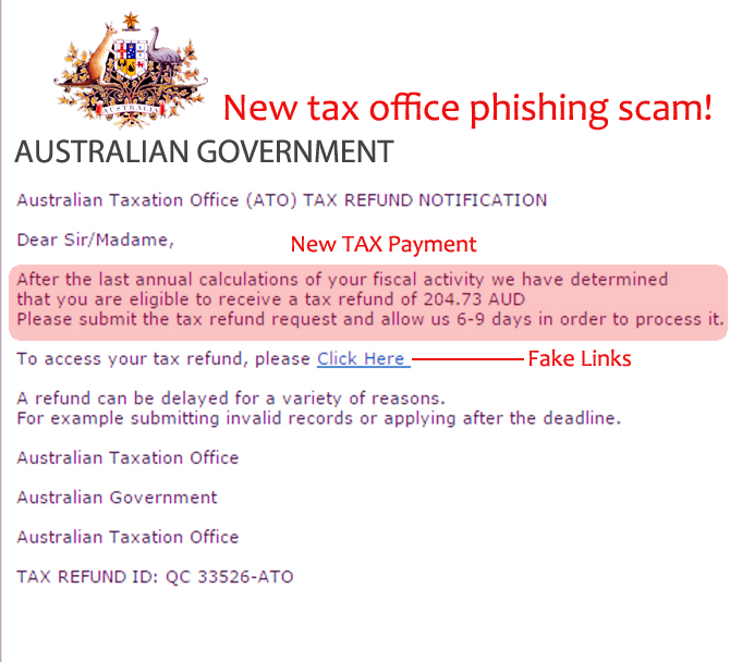 Beware of Tax Office Phishing scams