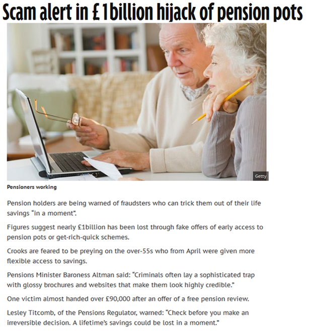 Example of pension scam