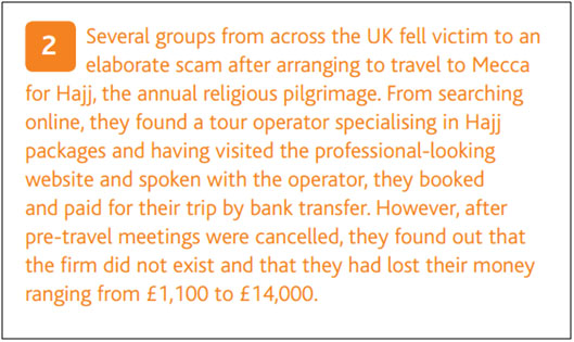 Swindling of Holiday and Travel Scam