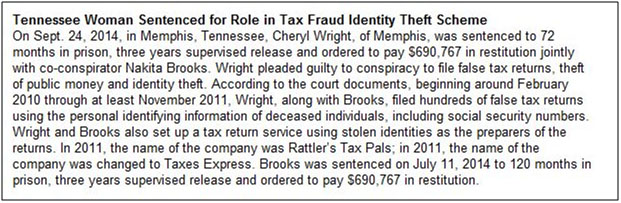 Tax Fraud Identity Theft