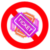 Ticket Scam Icon