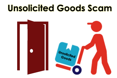 Unsoliciated goods scams