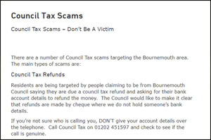 Council tax refunds