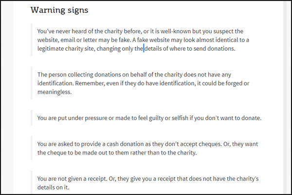 Charity Scams Fake Donations Victims Of Charity Fraud