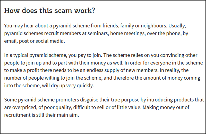 Pyramid And Ponzi Schemes Legal Multi Level Market Scams Illegal
