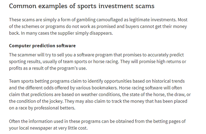 Investment scam examples ty mawr school gilwern investments