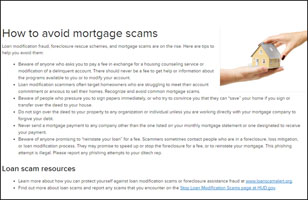 How to avoid mortage scams