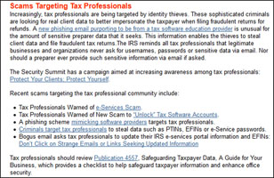 Scams Targeting tax professionals