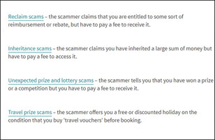 Type of payment scam
