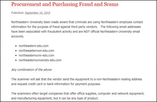 Procurment and purchasing fraud and scam
